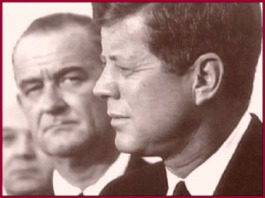 Johnson Glares Kennedy