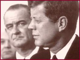 Johnson Glares Kennedy