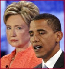Hillary Glares Obama