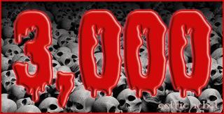 3000 Dead