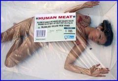 dead human meat