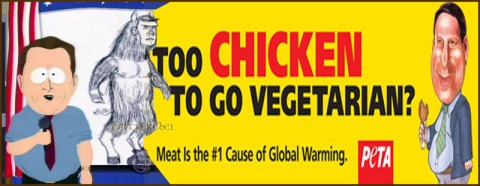 al gore man bear pig chicken peta