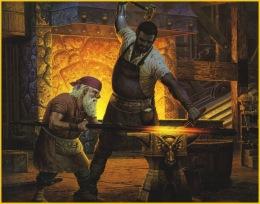 forging a sword
