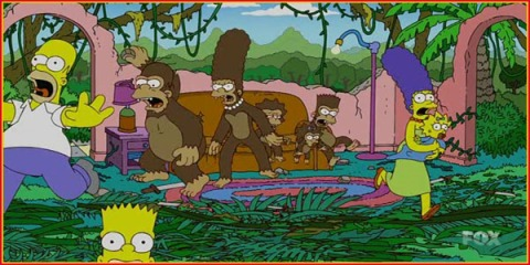 simpsons vs monkeys