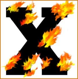 flaming x