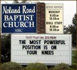 powerful position on knees