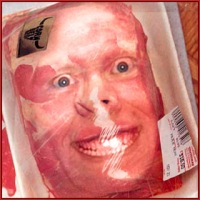 human face meat reflection