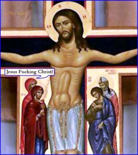 jesus has a huge dick