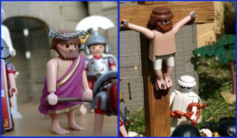 playmobil crucifiction