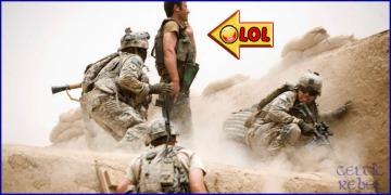 staged war imagery fake