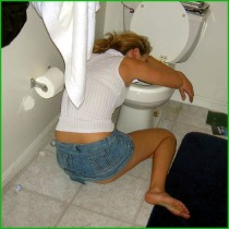 preying toilet