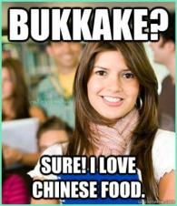 bukkake chinese food hottie