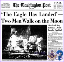 eagle landing on moon