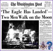 eagle landing on moon