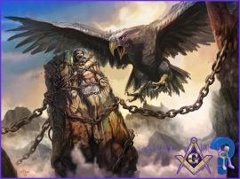 eagle eating prometheus liver