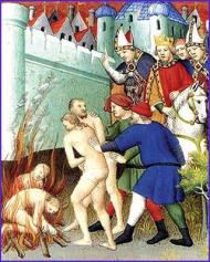 church burning heretic cathars
