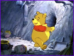pooh eats anus