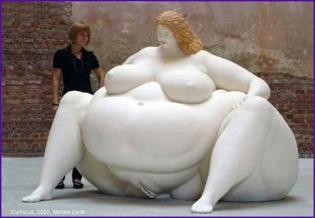 fat woman sculpture