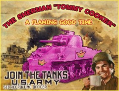 sherman flaming death trap