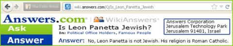 wiki answers jewish lies