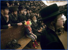 hassidic clown boy