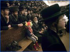hassidic clown boy
