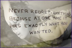 never regret self debasement