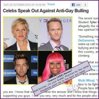 shit celebs out gay bullying