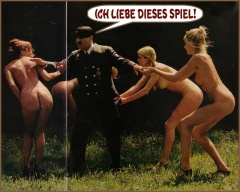 hitler knocking the ladies down