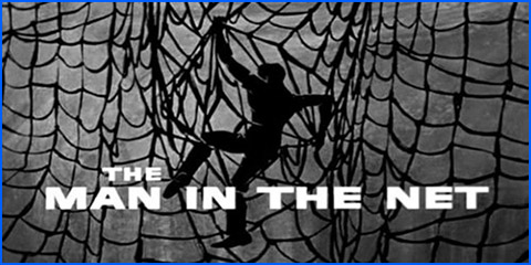 trapped in net
