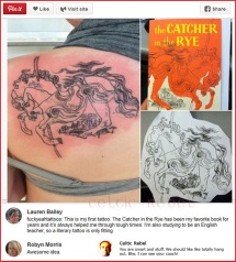 catcher in the rye tattoo pussy holden caufield