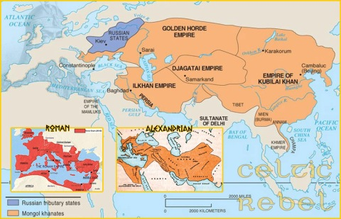 map empire mongol horde genghis kublai khan golden rome alexander the great