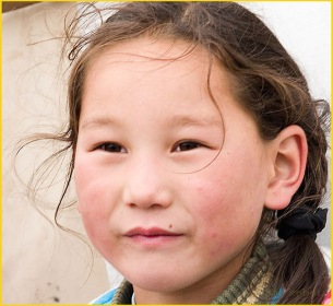 beautiful mongolian girl