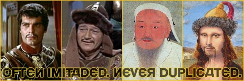 portraits genghis chinese arab omar shariff john wayne mona lisa