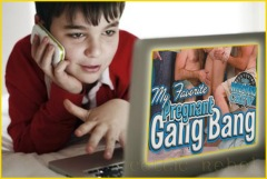 boy learning pregnant gang-bang internet