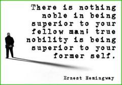ernest hemingway nobility