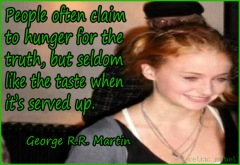 george martin sansa stark truth